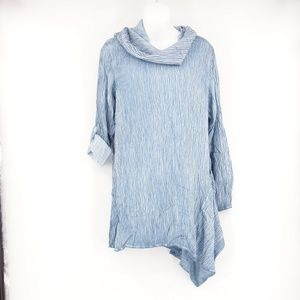 NWT SOFT SURROUNDINGS Blue Asymmetrical Tunic